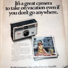 1968 Kodak Instamatic 104 Camera Vacation ad