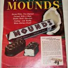 1950 Peter Paul Mounds Candy Bar ad