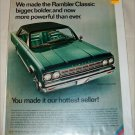 1966 American Motors Rambler Classic Rebel 2 dr ht car ad green