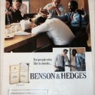 1989 Benson & Hedges 100's Cigarette ad