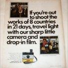 1970 Kodak Instamatic 124 Camera Start Light ad
