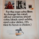 1970 Kodak Instamatic 124 Camera and Color Slides ad