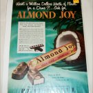 1950 Peter Paul Almond Joy Candy Bar ad