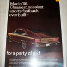 1966 American Motors Rambler Marlin Car ad brown