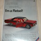 1966 American Motors Rambler Classic Rebel 2 dr ht car ad red & black