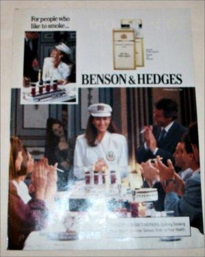 1989 Benson & Hedges 100's Cigarette Cruise Ship ad