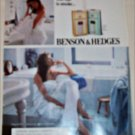 1990 Benson & Hedges 100's Cigarette Bathroom ad