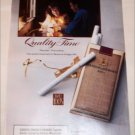 1991 Benson & Hedges 100's Cigarette Quality Time ad