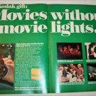1971 Kodak XL Movie Camera & Ektachrome Film ad