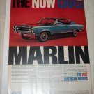 1967 American Motors Rambler Marlin car ad