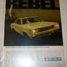 1967 American Motors Rebel 2 dr sedan car ad