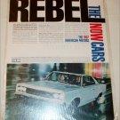 1967 American Motors Rebel 2 dr ht car ad