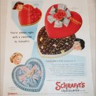 1955 Schraft's Chocolates Valentines ad