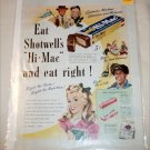 1947 Shotwell's Hi-Mac Candy Bar ad