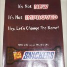 1997 Snickers Candy Bar ad