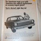 1967 American Motors Rambler American 220 2 dr sedan car ad