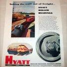 1954 Hyatt Roller Bearings ad
