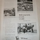 1951 Inco Nickle Bus Train Plane ad