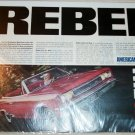 1967 American Motors Rebel convertible & Ambassador DPL 2 dr ht car ad