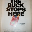 1990 Bucks Cigarette The Buck Stops Here ad