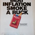 1990 Bucks Cigarette Beat Inflation ad