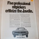 1968 American Motors Javelin Nitpick car ad