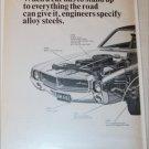 1968 Steel ad featuring American Motors Javelin SST