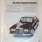 1968 American Motors Ambassador DPL 2 dr ht & Rolls Royce Silver Shadow ad
