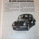 1968 American Motors Rambler American 2 dr sedan & Volkswagon 1500 car ad