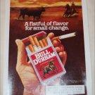 1991 Bull Durham Cigarette ad