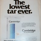 1980 Cambridge Cigarette ad #1