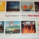 1956 Kaiser Aluminum 9 Reasons ad