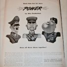 1942 Electric Companies Power ad