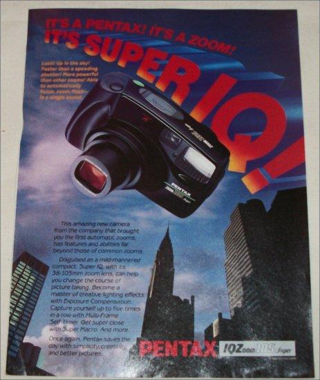 1990 Pentax Zoom 105 Super Camera ad
