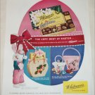 1959 Whitman's Sampler Chocolates Easter ad
