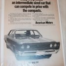 1969 American Motors Rebel 4 dr sedan car ad #1