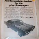 1969 American Motors Rebel 4 dr sedan car ad #2