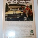 1969 Quaker State Motor Oil ad featuring American Motors AMX
