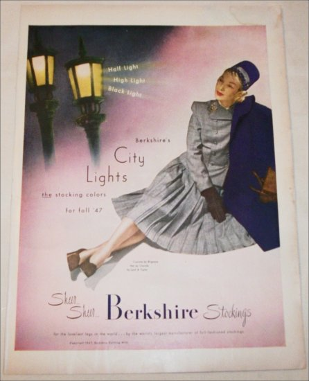 1947 Berkshire Nylon Stockings ad