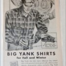 1944 Big Yank Shirts ad