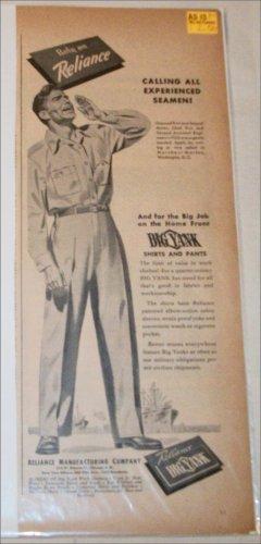 1945 Big Yank Shirts & Pants ad
