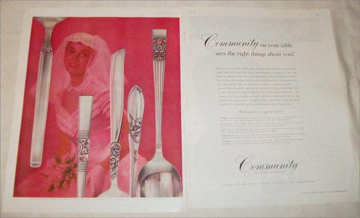 1956 Community Silverware ad #3