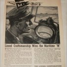 1944 Lionel Corporation Maritime M Award ad