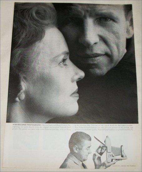 1958 Polaroid Land Camera ad featuring Hume Cronyn & Jessica Tandy