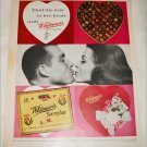1962 Whitmans Sampler Chocolates Valentines ad