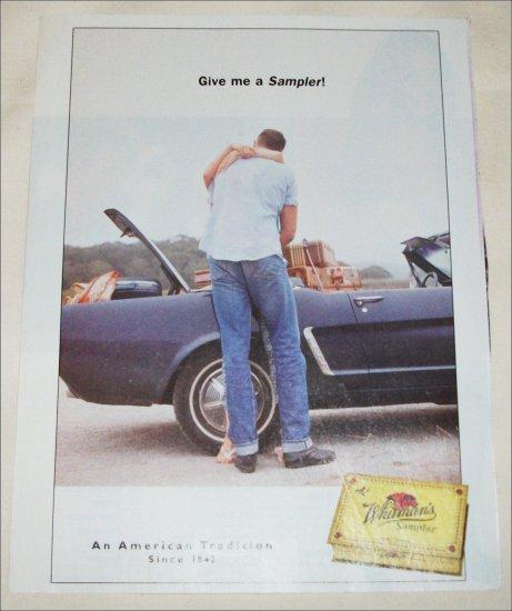 2000 Whitman's Sampler Chocolates Mustang ad