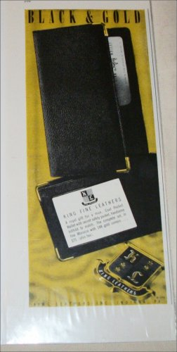 1946 Black & Gold Leather Wallet ad