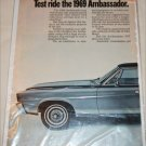 1969 American Motors Ambassador SST 4 dr sedan car ad