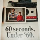 1965 Polaroid Land Automatic 104 Camera Boy and Artwork ad