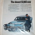 1969 American Motors Ambassador SST 4 dr sedan & Cadillac 4 dr sedan car ad